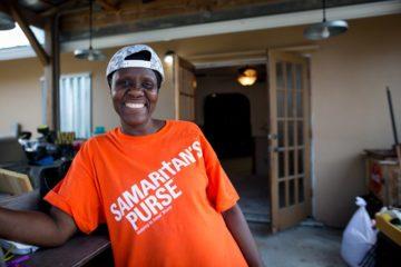 Haitian-born volunteer Betty Louis