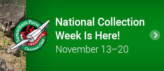 National Collection Week is Here! November 13–20