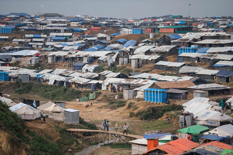 Rohingya refugee camp in Bangladesh