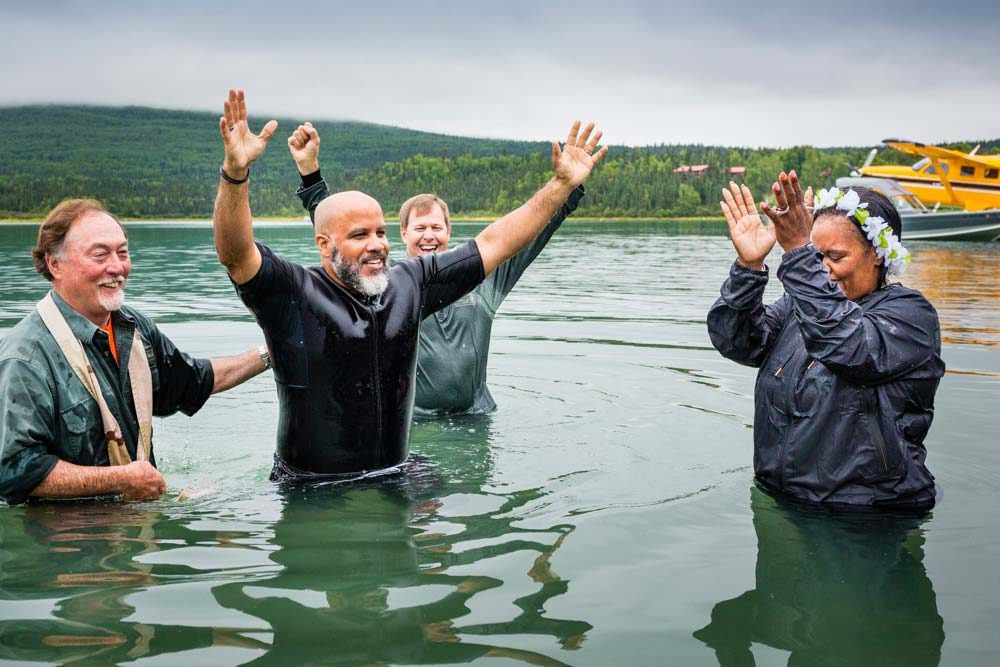 Operation Heal Our Patriots baptism in Alaska