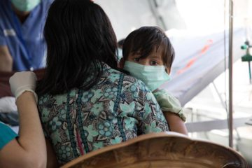 Many of those seen at the Diphtheria Treatment Center are children.