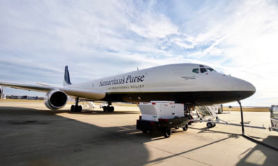 Our DC-8 departed from Greensboro, North Carolina, headed to Bangladesh to deliver medical equipment and supplies.