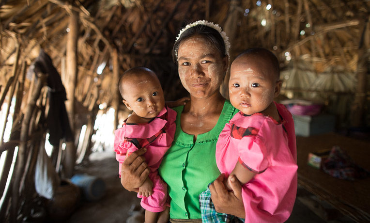 Masan has four children, including 1-year-old twins. She participates in a Samaritan's Purse mother-to-mother group that teaches proper nutrition, hygiene, and how to keep women healthy during pregnancy.