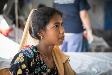 Shonchita received expert care from our medical staff working in Jesus' Name.