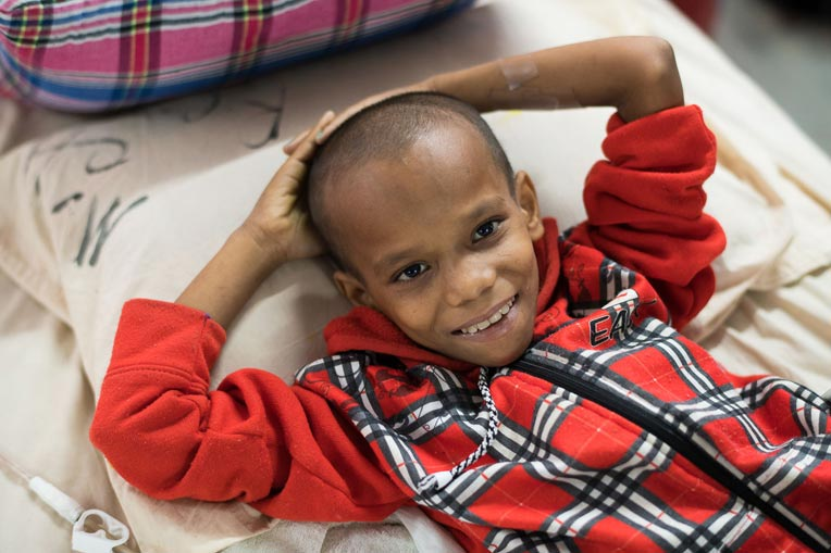 This 10-year-old boy has been at the hospital for a month as staff try to save his leg.