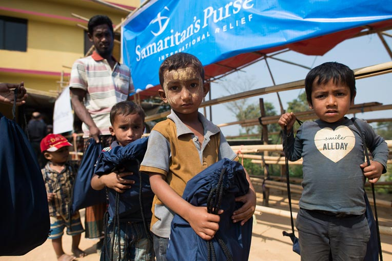 These little boys were among 1,200 Rohingya children who received special gifts from Samaritans' Purse on Wednesday, Jan. 31.