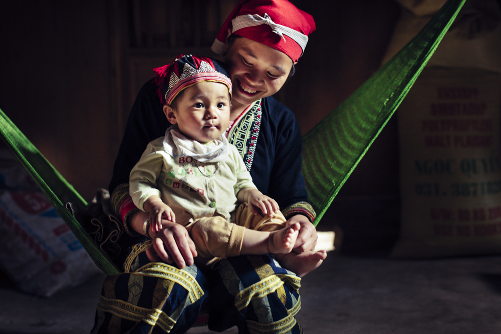 Young mother in Vietnam
