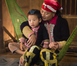Vietnamese mother and child