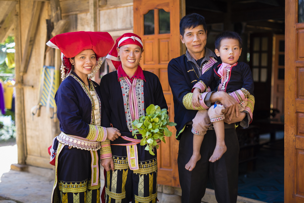 Family in Vietnam highlands