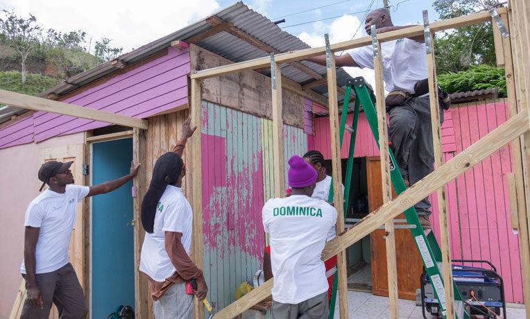 Rebuilding in Dominica