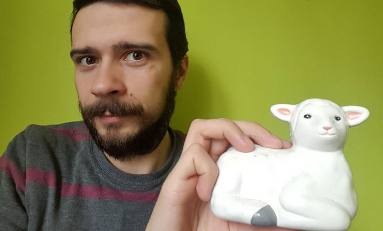 Temo Galustian, 30, of Tbilisi, Georgia, in the former Soviet Union, was recently reunited with the toy lamb he received in his shoebox gift at age 14.