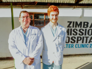 Dr. Greg and his son Isaac worked together in Zambia.