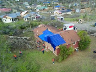 The Jacksonville area is suffering after tornadoes tore through northeast Alabama.