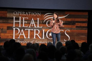 Amy Smalley spoke at the 2018 Operation Heal Our Patriots Reunion.