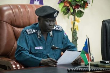 """General Majak Akec, inspector general of police for the Republic of South Sudan, officially opened the """"Leading Using Biblical Principles"""" workshop for police chaplains and other government leaders in Juba."""