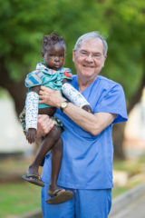 Dr. Jim Wade, a volunteer surgeon with Samaritan's Purse, repaired the lips of dozens of patients.
