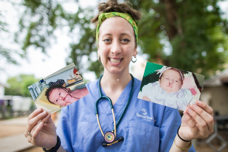 Nurse Carol Pollock shared her baby pictures with cleft lip patients, assuring them that they are made in God's image and that He loves them and has a plan for their lives.