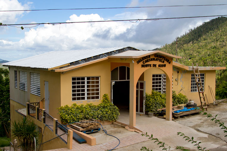 Samaritan's Purse recently completed the rebuild of Iglesia Monte de Sion in Adjuntas, Puerto Rico, after its roof was ripped off by Hurricane Maria.