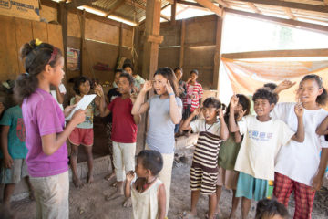 The Greatest Journey graduates recite Scripture and sing a special song.