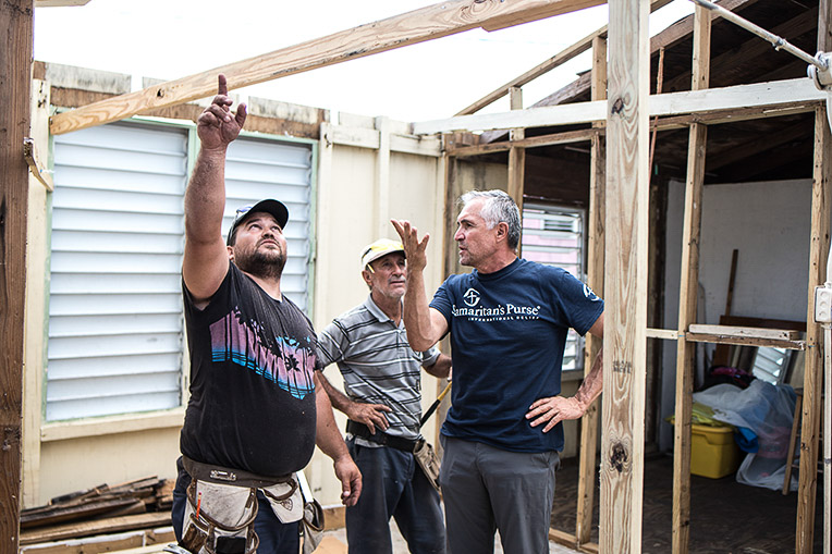 Samaritan's Purse is partnering with local churches to rebuild 1,000 homes and 60 churches across Puerto Rico.