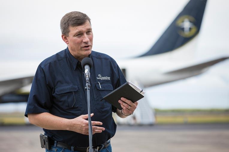 Samaritan's Purse North American Ministries Vice President Luther Harris U.S. Disaster Relief Kauai.
