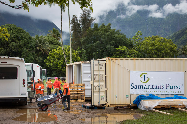 Samaritan's Purse is busy on the island of Kauai helping homeowners hit by torrential floods.