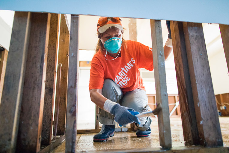 Samaritan's Purse volunteers in Kauai, Hawaii.