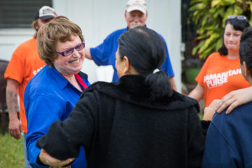 Billy Graham Rapid Response Team chaplains work alongside Samaritan's Purse volunteers on Kauai.