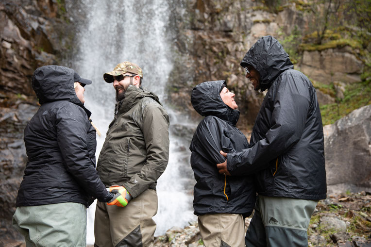 wounded veterans enjoy Alaska waterfall Operation Heal Our Patriots