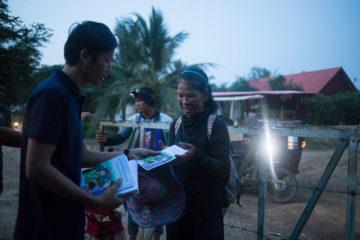 Border crossing in Cambodia