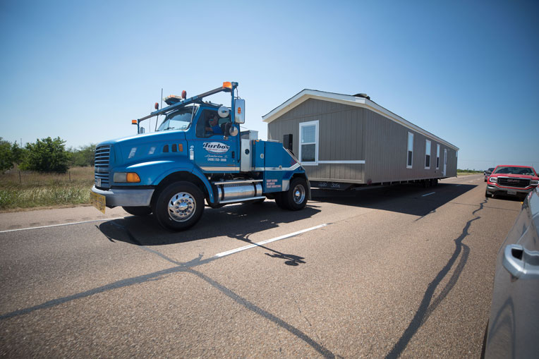 We are delivering mobile homes throughout southeast Texas.