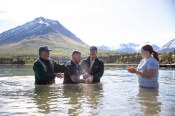 Army Staff Sergeant Kyle Welch and his wife Jenn were both baptized last week at Samaritan Lodge!