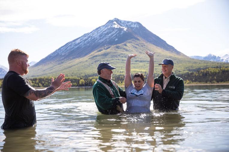 veterans spouses baptized Lake Clark Tanalian Mountain Samaritan Lodge