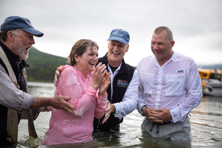 Marine Major Bob and Rebecca Schmidt were both saved and baptized. They also rededicated their marriage to God.