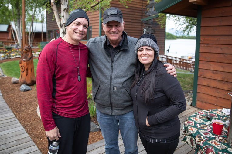 Franklin Graham met Army Sergeant Luis and Aracelis Figueroa during Week Two.
