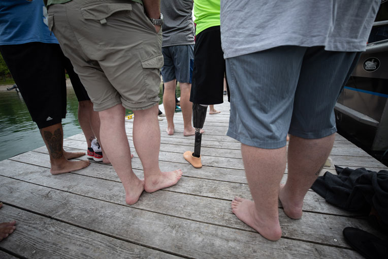 Everyone's getting ready for the weekly polar plunge.