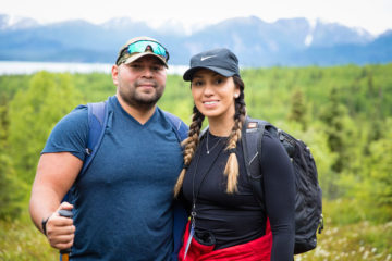 Marine Staff Sergeant Tre Tremillo and Marine Sergeant First Class Tina Tremillo enjoy a hike to Tanalian Falls. The Tremillos received Jesus as Lord and Savior.