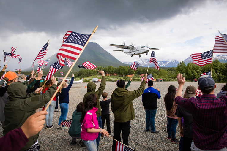 New plane loads of couples arrive at Samaritan Lodge Alaska for Week 5 of Operation Heal Our Patriots.