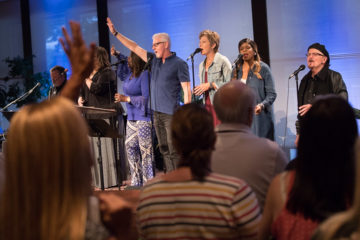 The Tommy Coomes Band led worship during the conference.