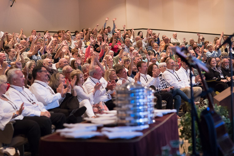 The Cove auditorium was packed out for the North American ministries volunteer conference.
