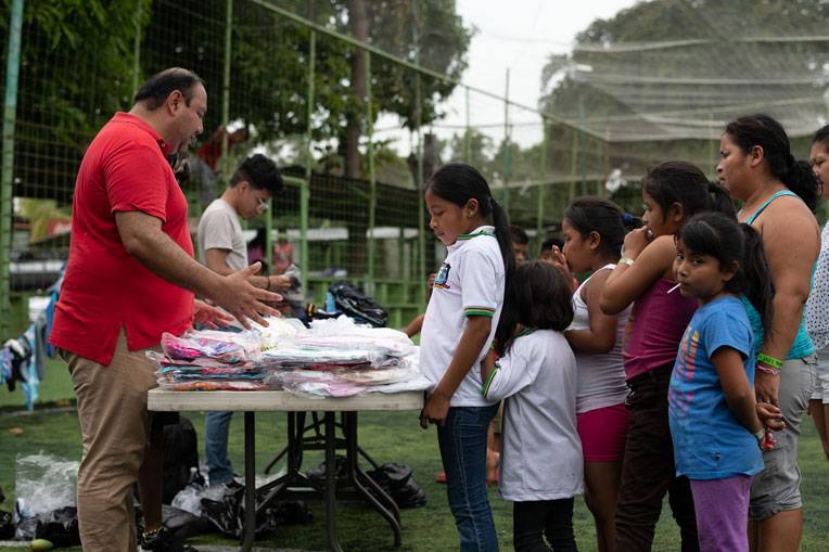 Clothing distribution in Guatemala