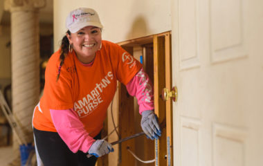 Though her own house in Weslaco sustained damage from the flood, Stephanie Avila was overjoyed to volunteer with Samaritan's Purse.