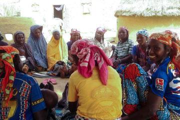 Women gather for a Samaritan's Purse agriculture training in the village of Zangon Karin Kara, Niger.