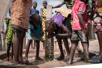 Over 12,500 people benefit from water points in this very remote area where our water, sanitation, and hygiene (WASH) team drilled 28 new boreholes last year.