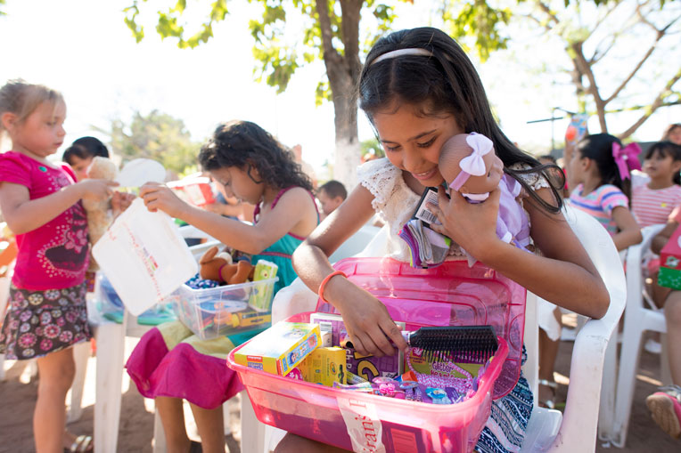 Operation Christmas Child shoebox gifts were a tangible expression of God's love to many children in Mexico.