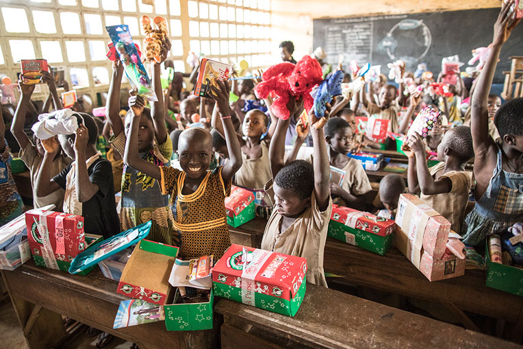 We praise God for the children in Togo who heard the Gospel through Operation Christmas Child outreach events.