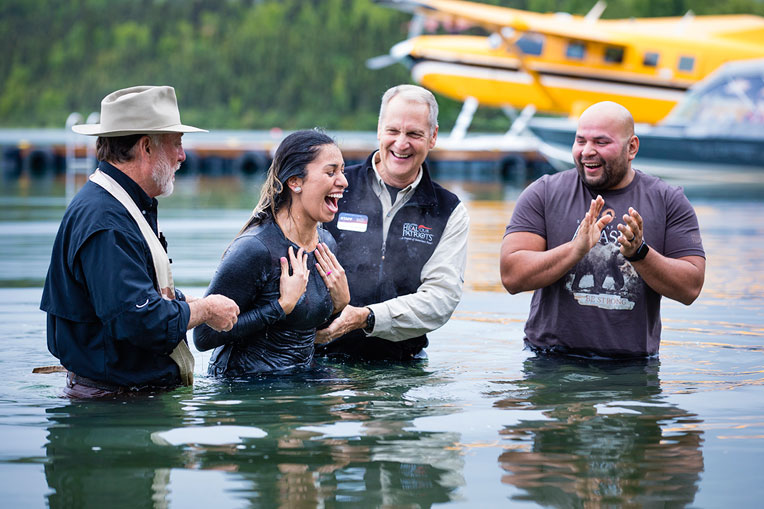 Marine Staff Sergeant Tre Tremillo and his wife Tina were baptized during their week in Alaska with Operation Heal Our Patriots. Hundreds of military couples have made commitments to Jesus Christ and rededicated their marriages since the project began in 2012.