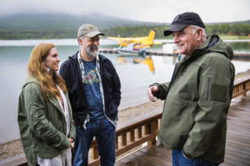 Franklin Graham visits with Army Chief Warrant Officer 2 Rich Reid and his wife Ruth. The Reids rededicated their marriage while in Alaska.