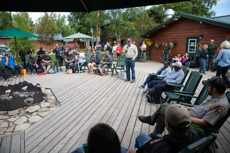 Franklin Graham encourages couples at the Samaritan Lodge fireside chat during Week Six of Operation Heal Our Patriots.
