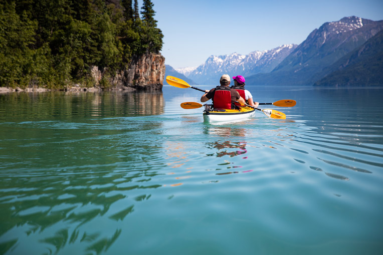 Army Staff Sergeant Fred Boyer and his wife Rachael paddled Lake Clark on July 3. Operation Heal Our Patriots was started in 2012 and, by the end of this year, about 1,000 military couples will have participated in the project.